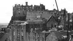 An Edinburgh View 01 (byronv2) Tags: blackandwhite bw building castle history monochrome architecture scotland blackwhite edinburgh cityscape edinburghcastle chateau schloss oldtown fortress doorsopenday victoriastreet edimbourg indiabuildings doorsopenday2015