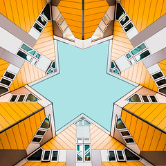 All Yellow (Philipp Götze) Tags: architecture rotterdam lookup cubehouses