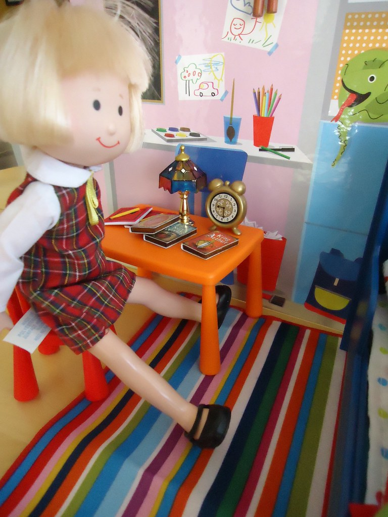 Nicole Does Her Homework At Madelineu0027s (Helen725) Tags: Ikea Doll Dolls  Furniture Madeline