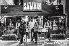 The Saloon Amistat-Castanys (Eliseo Oliveras) Tags: barcelona street city portrait people urban blackandwhite bw espaa white black blanco spain noir negro catalonia bn catalunya saloon espagne blanc wildwest negre catalua poblenou oeste oldwest farwest espanya catalogne 2015 salvaje viejooeste eliseooliveras eliseooliveras festamajordelpoblenou anistatcastanys