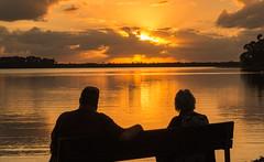 Alaska 2015 (7 of 9) (Edie Mendenhall) Tags: sunset people lake sunrise bench reflecting grandmother memories grandson inspirational lookingback remembering 2015 silhuetts lakedias