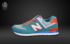 NB WL574CPE Women New Balance 574 Blue Orange Sneaker (RobertThrashy) Tags: beautiful shopping chic runner runningshoes coupon womensshoes retrostyle popshoes shoppingonline newbalance574 fashionsneakers intrend girlsrunningshoes storediscount