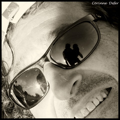 """Regards"" (Corinne DEFER - DoubleCo) Tags: portrait people blackandwhite love blancoynegro corinne contrast square noiretblanc retrato nb yeux reflet amour contraste masque regard carr sourcils defer  saglier carrfranais corinnedefer"