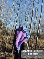 Unicorn Hood Luna version 01e (zreekee) Tags: unicorn mlp mylittlepony luna crochet sparkledoomdesigns saskatchewan handmade hood crochetverse