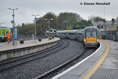 22039 arrives at Drogehda, 14/11/15 (hurricanemk1c) Tags: irish train rail railway trains railways irishrail rok drogheda rotem 22039 2015 icr iarnród 22000 éireann iarnródéireann premierclass 5pce 1320connollybelfastcentral