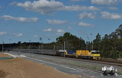 'Double consist' down low (highplains68) Tags: railroad rail railway australia nsw newsouthwales aus indianpacific sydneytrains westernline rootyhill mainwest 7sa8
