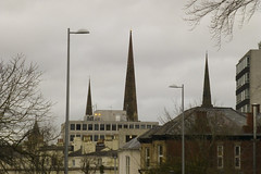 the three spires of coventry (marcels_pics) Tags: panasonic tz30 cityscape spires coventry buildings