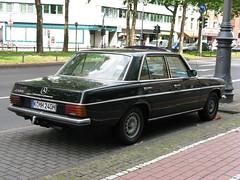 Mercedes 240 D (W114) (photobeppus) Tags: street urban black classic cars sedan vintage germany deutschland photography kln w114 mercedes240d