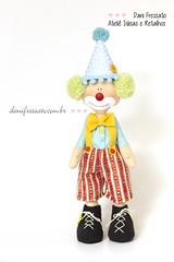 Boneco Palhaço Articulado (Dani_Fressato) Tags: boneco doll handmade artesanato craft patch palhaço tecido ideias retalhos danifressato