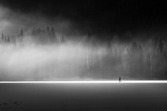 (Svein Skjåk Nordrum) Tags: winter light shadow blackandwhite bw lake snow cold ice nature water silhouette landscape frozen woods noir skating surface explore nero marka tourskating explored nordicskating østmarka mønevann