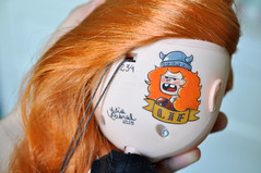 Lif #234 (Julia Cabral Dolls) Tags: mouth ginger carved dolls teeth makeup lips redhead blythe prado custom tbl redhair viking inc navio rebeca drago lif faceup custombyme juliacabral juliacabraldolls