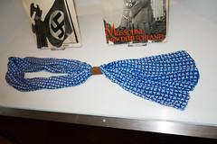 Swastika neck scarf (quinet) Tags: 2013 allemagne deutschland germany hakenkreuz munichstatemuseum mnchen nsdap rassismus stadtmuseummunich nazi racism racisme svastika swastika uniform uniforme munich bavaria