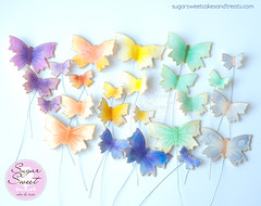 Gumpaste Wired Butterflies (SugarSweetCakes (Angela)) Tags: butterfly butterflies wiredbutterflies gumpaste cakedecorations