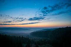 Sunrise with Moon (vladvizante) Tags: sky cloud outdoor serene sunrise morning cold dew fog foggy nature countryside romania nikon d3300