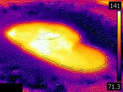 Thermal image of Belgian Pool (late afternoon, 11 August 2016) (James St. John) Tags: belgian pool grand group upper geyser basin yellowstone hotspot volcano wyoming hot spring springs thermal image temperature