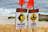 Warning Signs (milepost430media.com) Tags: hookipa park beach water ocean pacific waves ripples surf surfing surfer red danger warning sand caution current ripcurrent strong hawaii maui hana 70d dslr rocks paradise