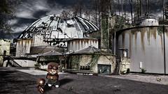 abandoned city (Monkey Culture) Tags: monchhichi toho daisuke toy stuffedtoy toyart toyphotography photomanipulation photomanip