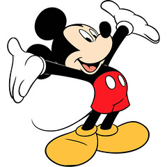 []LINE03 (sutaemon) Tags: sticker message    disney mickey mouse welcome
