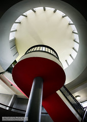 Space Oddity (Fred-Adams) Tags: 1950s architecture bertholdlubetkin dec2015 fredadamsphotography london lubetkin tecton design fredfredadamsphotographycom futuristic levels modernarchitecture moderndesign modernist platforms retro retroscifi socialhousing staircase stairwell urban utopian vision