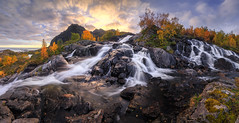 Remote Norway pt. II (the_phlog) Tags: norway norwegen lofoten waterfall polarcircle north arctic wasserfall sunset sunrise dusk dawn thephlogphotography christianmhrle canon eos6d hdr panorama tutorial