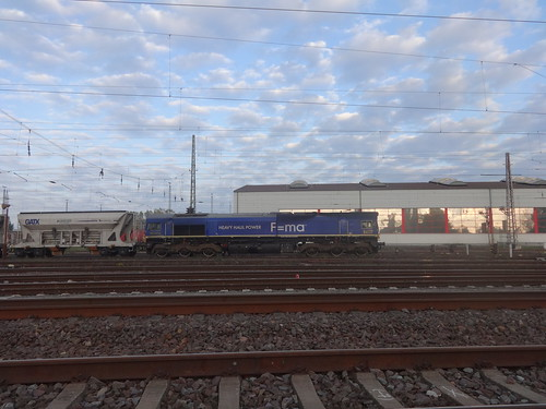 2003 dieselelektrische Lokomotive Ted Gaffney Typ JT42CWR von GM-EMD Werk-Nr. 20038513-5 bei Fa. Heavy Haul Power International GmbH in Erfurt Am Schöppensteg in 39126 Magdeburg-Eichenweiler