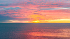 When Are You Coming Home? (John Westrock) Tags: sheboygan wisconsin sunrise lakemichigan colorful water sky clouds nature canoneos5dmarkiii canonef2470mmf28lusm