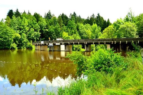 Staumauer Rannasee,Bayrischer Wald (Germany)