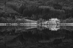 Loch Chon Reflections (ShinyPhotoScotland) Tags: darktable unitedkingdom gbr 1260mm art blackandwhite calm calmstill camera challenges composite composition contentment dulllight emotion enfuse equipment f28 hdr highlands landscape lens light lochchon manipulated memories monochrome olympus olympuspenf photography places rawconversion rawtherapee reflection reflectionsonwater scotland simple symmetry toned tranquil trossachs uplifting vista zen