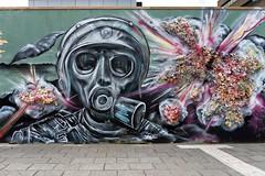 Street Art, Rotterdam (JSP92) Tags: street art graffiti rotterdam soldier war explosion colourful 3d textured city