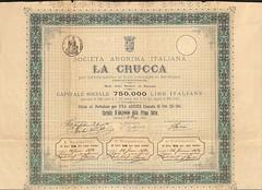 LA CRUCCA SOC. AN. ITALIANA (scripofilia) Tags: 1873 azioni cristalli crucca italiana lacrucca sardegna societanonima vetri
