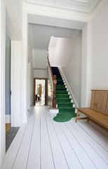 EN-23D (orangestreetdesign) Tags: bench paintedfloor stairs entry classical