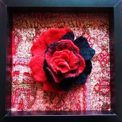 RED&BLACK (pestinairina) Tags: red black nero rosso nuno felting feltro painting wool art arte