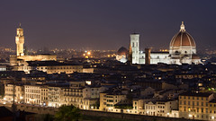 Florence skyline (Mikey Down Under) Tags: florence italy firenze tuscany evening dark night dusk city view skyline piazzale michelangelo cathedral dome