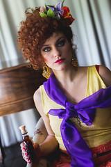 gitana (estanislao niklison) Tags: retrato portrait mujer woman gitana gipsy redhair peliroja afro hair flowers flores buenoas aires argentina lujan don ceferino estancia