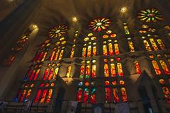 NH0A3935s (michael.soukup) Tags: barcelona sagradafamlia sagrada familia basilica church stainedglass color colorful windows nave interior gaudi churchoftheholyfamily catholicchurch artnouveau architecture neogothic spain catalonia
