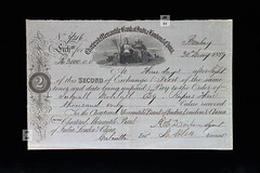 Chartered Mercantile Bank of India, London & China (Canadian Pacific) Tags: bank banking bankology billofexchange foreign draft old document paper ephemeral ephemera cheque aimg5821 mid 19th 19 century charteredmercantilebankofindialondonchina mercantilebankofindia mercantilebank ltd limited mercantilebankofbombay hsbc