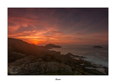 Sunset... (Canconio59) Tags: sunset ocaso landscape costa coast mar sea ferrol galicia espaa spain colores colors sky nubes clouds valdovio