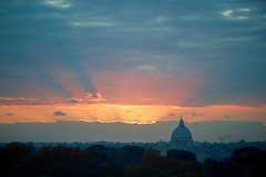 The Setting Sun as Seen Against St. Peter's Basilica (U.S. Department of State) Tags: johnkerry rome italy stpetersbasilica vatican vaticancity