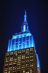 Empire State Building Top (Jemlnlx) Tags: canon eos 5d mark iv 4 ef 70200mm f4 l is usm esb empire state building night evening lit lights blue top tip tower iconic skyscraper ny nyc new york city manhattan 34thstreet 34street 34th street midtown