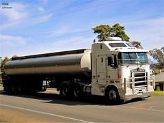 photo by secret squirrel (secret squirrel6) Tags: truck road secretsquirrel6truckphotos craigjohnsontruckphotos kenworth mirboonorth tanker aerodyne strezleckihighway 2012 trucking australiantrucks cabover