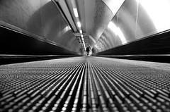 Tapis roulant (luporosso) Tags: tappetomobile metro tunnel bianconero biancoenero blackwhite blackandwhite blancoynegro noiretblanc monochrome monocromatico saturday nikond300s nikonitalia iamdifferent