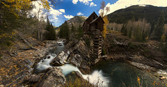 Success is not final, failure is not fatal: it is the courage to continue that counts... (ferpectshotz) Tags: crystalmill powerhouse colorado fall panorama waterfall crystalcreek autimn