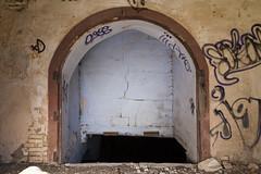 Espacios abandonados. Gaarul, Aragn, Espaa. (www.rojoverdeyazul.es) Tags: gaarul aragn espaa autor lvaro bueno acceso bodega cellar puerta door zona rural rstico antiguo rustic ancient