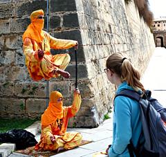 Levitation (Carl Neufelder) Tags: mallorca people palma levitation wall magic
