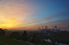 Munich (phozuppel) Tags: mnchen olympiastadion olympiapark sonnenuntergang sunset
