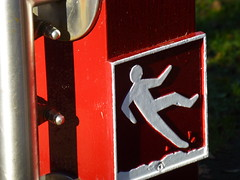 Castell Coch (gwallter) Tags: castell coch falling man sign
