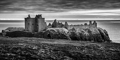 Dunottar Castle bw (jmachoo) Tags: dunottar castle stonehaven scotland morning sunrise scenic landscape tourism bw