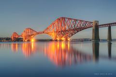 Forth-2014 (Ray Devlin) Tags: longexposure bridge sunset lights scotland twilight nikon long exposure south scottish estuary forth floodlit lothian firth queensferry d800 enginerring