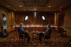 Secretary Kerry is Interviewed by CNN's Acosta in Anchorage, Alaska (U.S. Department of State) Tags: glacier arctic anchorage johnkerry climatechange arcticcouncil sallyjewell