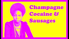 Champagne, Cocaine, & Sausages (C. Neil Scott) Tags: champagne sausages nickcave spokenword warrenellis cocaine ninasimone 20000daysonearth